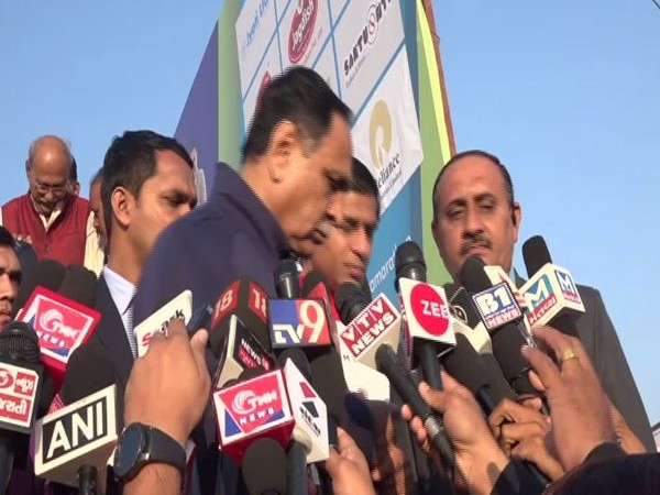 Chief Minister Vijay Rupani walked away of media persons as a reporters sought his response on children deaths. (Photo/ANI)