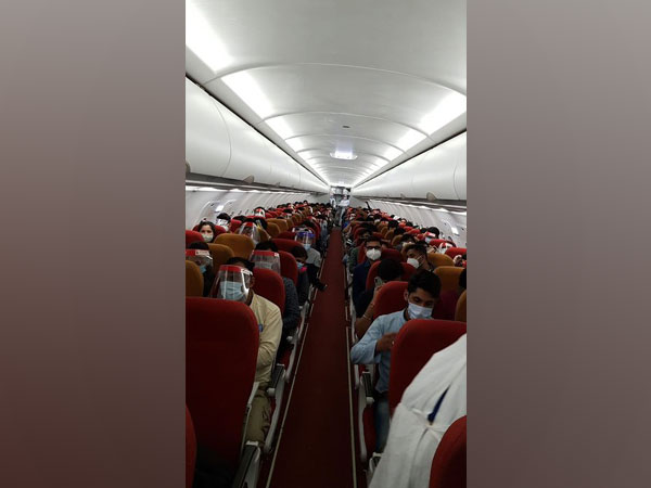 Passengers onboard Air India flight from Moscow on June 3