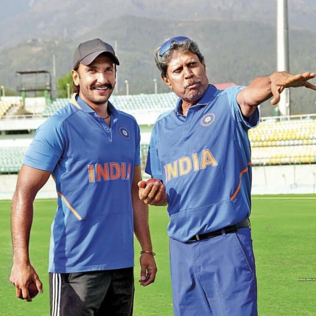 Ranveer Singh and Kapil Dev, Image courtesy: Instagram