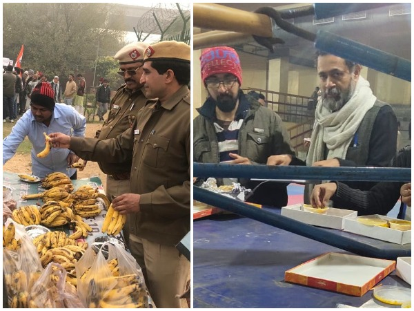 Refreshments being served to detained protesters at delhi's Surjmal and Rajiv Gandhi stadiums. (Photo/ANI)