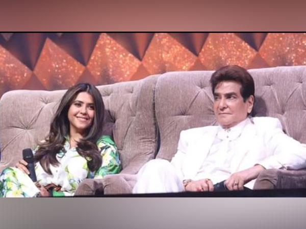 Ekta Kapoor with father and veteran actor Jeetendra Kapoor (Image Source: Instagram)