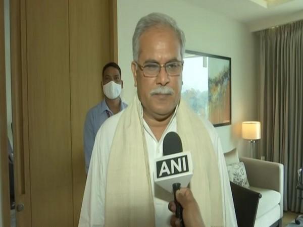 Chhattisgarh Chief Minister Bhupesh Baghel speaking to ANI on Sunday.
