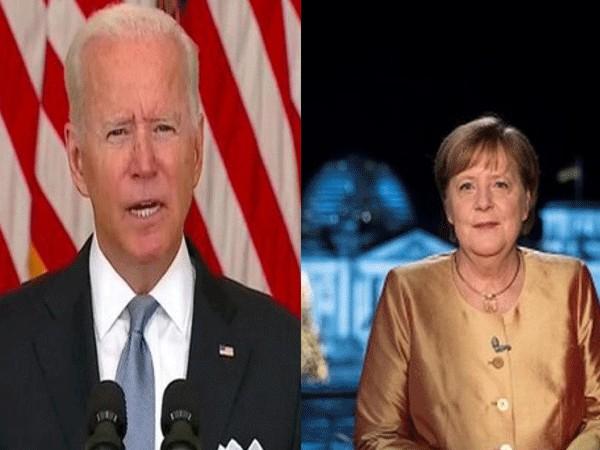 US President Joe Biden and German chancellor Angela Merkel