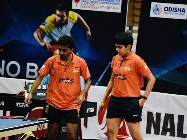 Indian Table Tennis mixed doubles pair of G Sathiyan and Archana Kamath (Photo/SAI Media Twitter)