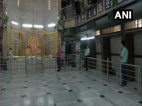 A visual of Sai Baba Temple, Lodhi Road here on Thursday. (Photo/ANI)