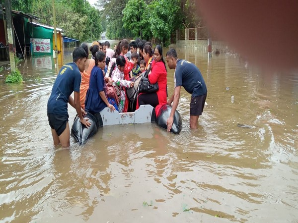 NDRF team along with Naval and Army officers are working day and night to rescue the families stuck in the low lying areas, which are submerged under floodwater.