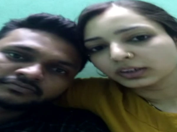 Ragini Dwivedi with her husband in the purported video