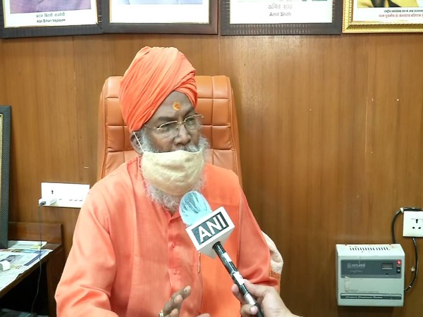 Lok Sabha MP Sakshi Maharaj speaking to ANI on Tuesday. (Photo/ANI)