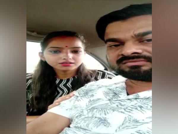 Sakshi Misra, the daughter of BJP lawmaker Rajesh Misra, with her husband.