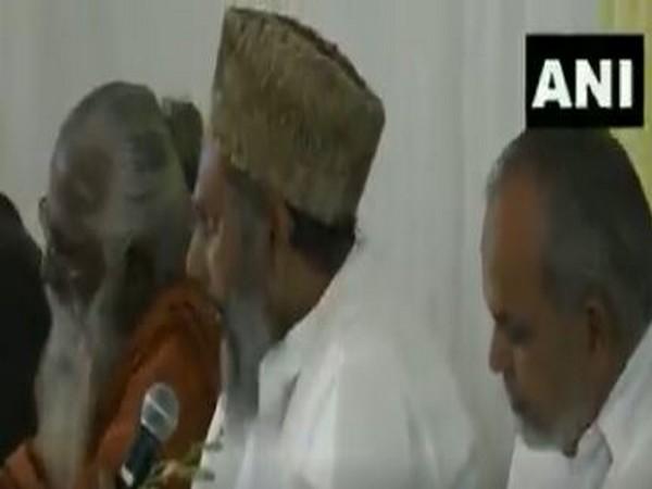 Maulana Asghar Ali Salafi speaking at NSA Ajit Doval's residence in New Delhi on Sunday