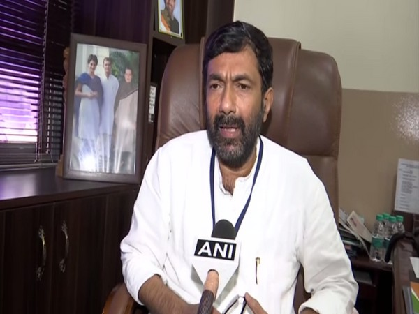 Karnataka Congress working president Saleem Ahmed speaking to ANI in Bengaluru on Wednesday. (Photo/ANI)