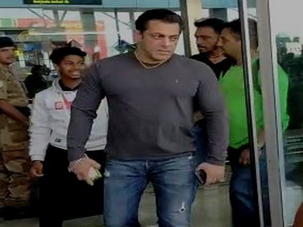 Actor Salman Khan at Goa airport on Tuesday (Picture courtesy: Social Media)