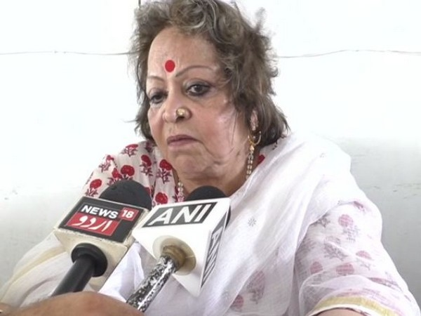 Former Vice-president Hamid Ansari's wife Salma Ansari taking to media at Aligarh on Saturday