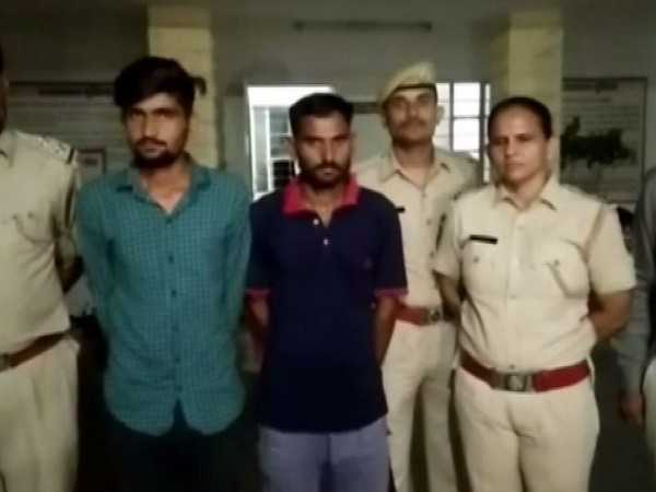 The two accused arrested by  Jodhpur Police for giving life threat to Salman Khan. (Photo/ANI)