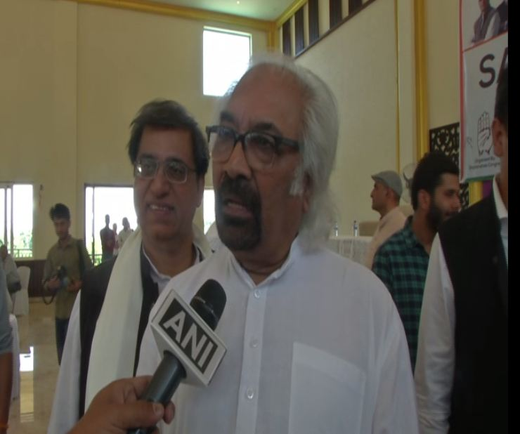 Indian Overseas Congress chief Sam Pitroda speaking to ANI