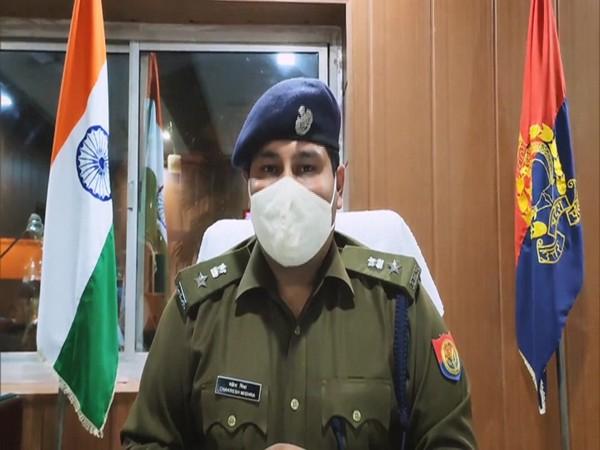 Sambhal SP Chakresh Mishra speaking to ANI on Thursday. (Photo/ANI)