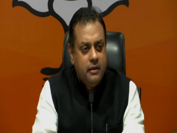 BJP leader Sambit Patra speaking at a press conference on Sunday. [Photo/ANI]