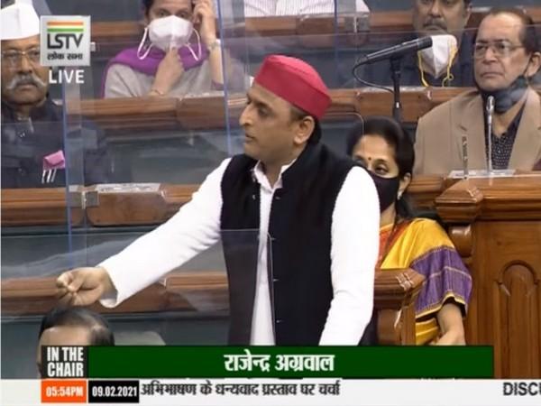 Samajwadi MP Akhilesh Yadav in Lok Sabha on Tuesday