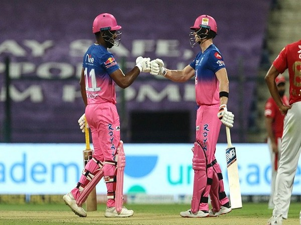 RR batsman Sanju Samson and skipper Steve Smith (Image: BCCI/IPL)