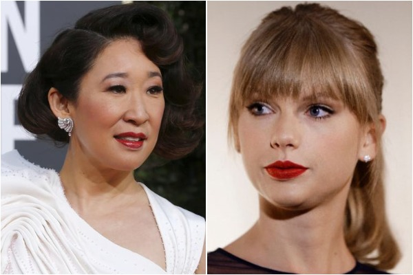 Sandra Oh and Taylor Swift