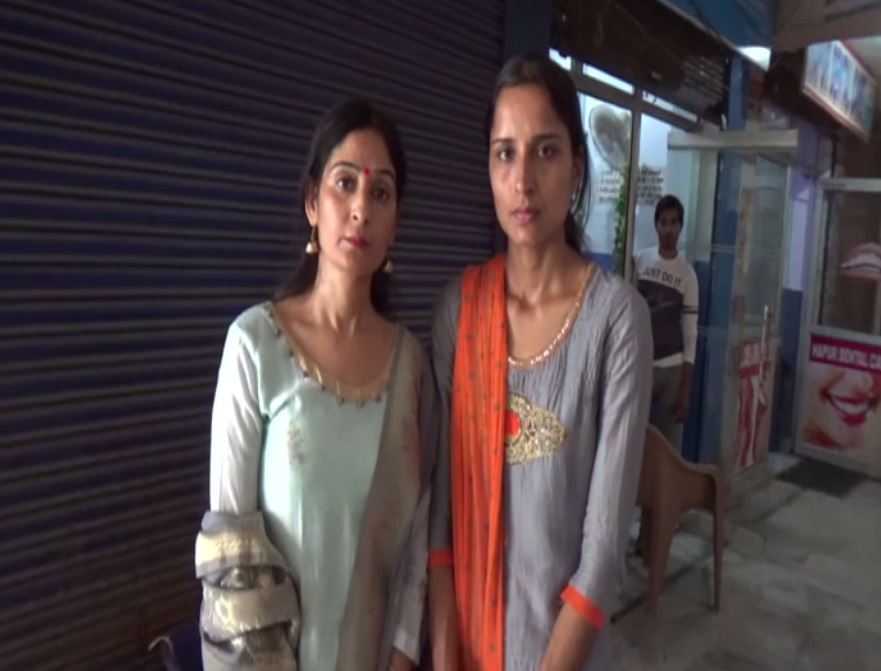 Suman and Sneha (Left to right)