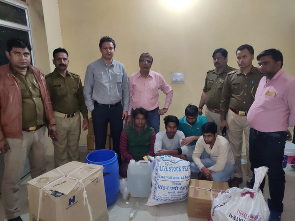 Four held in Ghaziabad, fake sanitiser unit busted.