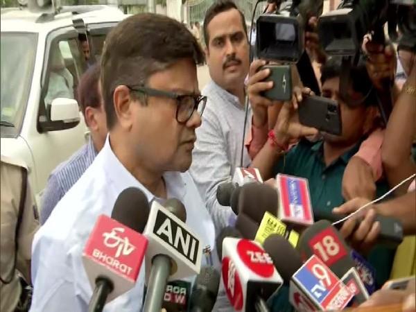 Principal Secretary Health in Bihar, Sanjay Kumar speaking to media in Patna on Tuesday.