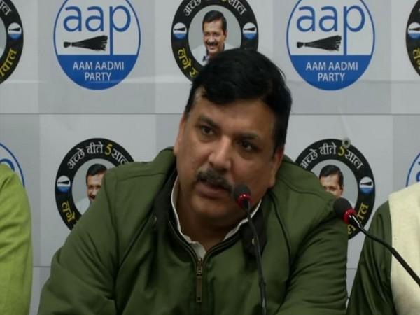Sanjay Singh addressing a press conference in New Delhi. Photo/ANI