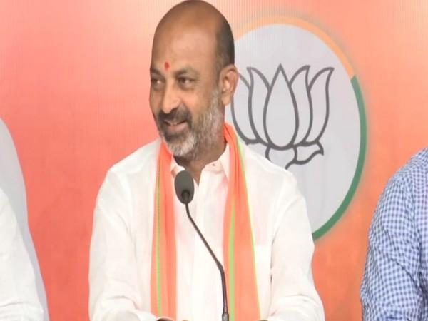 Telangana BJP chief Bandi Sanjay (file pic/ANI).