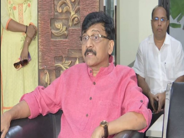 Shiv Sena leader Sanjay Raut speaks to media in Mumbai on Thursday [Photo/ANI]