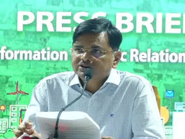 Sanjaya Singh, secretary Information and Public Relations, Odisha government addressing press conference at Bhubaneswar on Friday