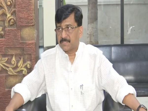 Shiv Sena leader Sanjay Raut talking to media persons in Mumbai on Wednesday