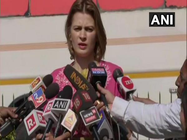 NC leader Omar Abdullah's sister Sara Abdullah Pilot speaking to media in New Delhi on Friday. Photo/ANI