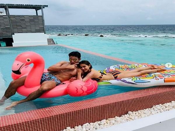 Sara Ali Khan and Ibrahim Ali Khan in Maldives (Image Source: Instagram)
