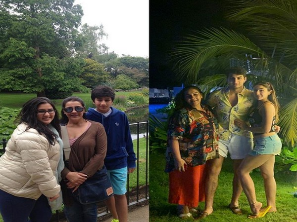The then and now family throwback picture shared by actor Sara Ali Khan (Image courtesy: Instagram)