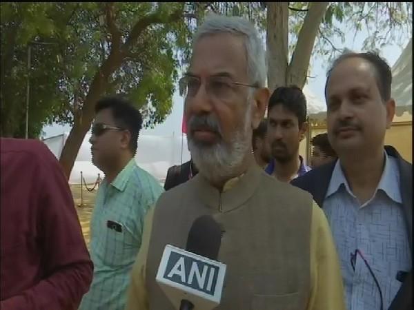 Sabarmati Ashram trustee Kartikeya Sarabhai speaking to ANI in Ahmedabad on Monday.