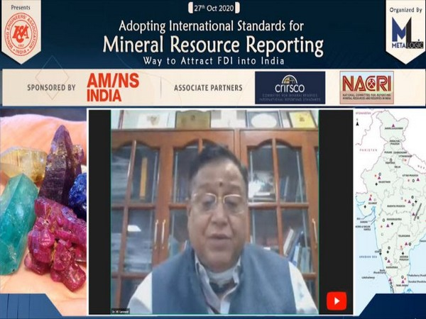 Dr VK Saraswat, Member, NITI Aayog delivering note on need for change in mineral resource reporting.