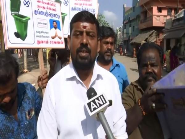 Thulam Saravanan speaking to ANI in Madurai.
