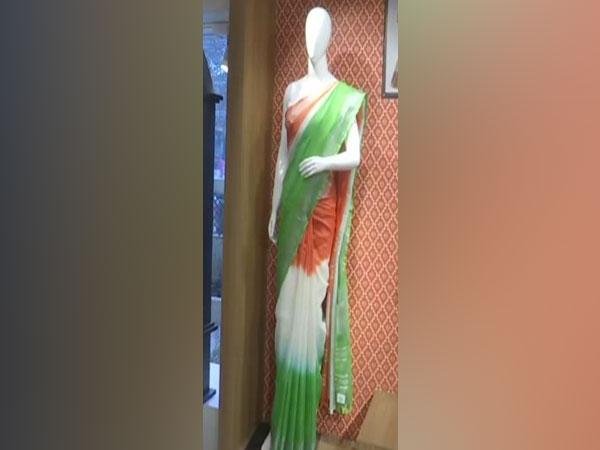 Sarees on display at Khadi Mall