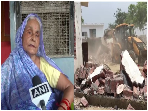 Sarla Devi, mother of history-sheeter Vikas Dubey speaking to ANI on Saturday.