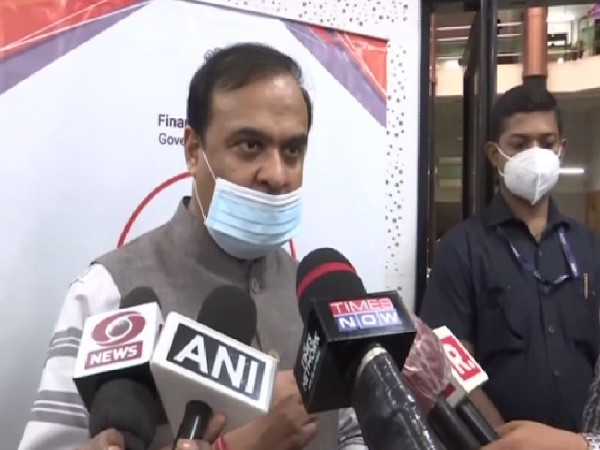 Assam Health Minister Himanta Biswa Sarma speaking to media on Wednesday.