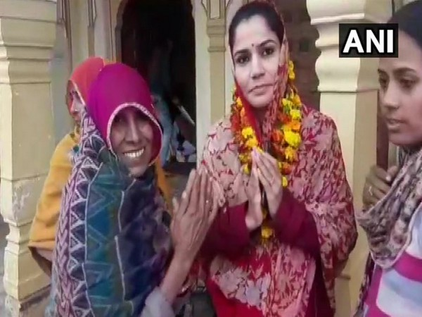 Neeta Sodha, an immigrant from Pakistan is contesting for panchayat election. Photo/ANI