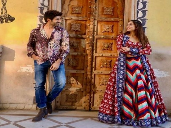 Kartik Aaryan and Sara Ali Khan in Jaipur (Image Source: Instagram)
