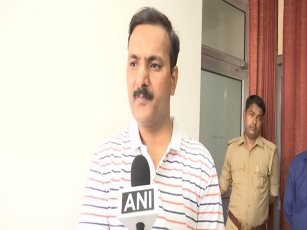 Primary Education Minister Dr Satish Dwivedi talking to ANI on Wednesday. Photo/ANI