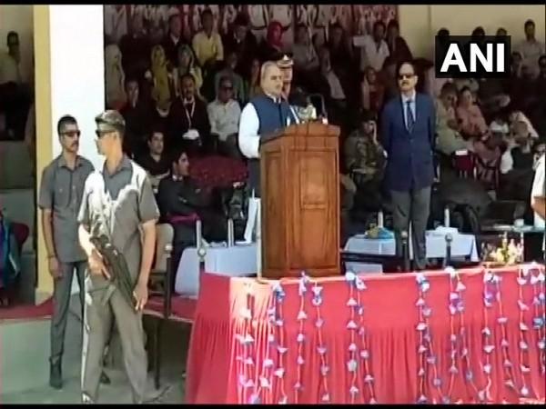 Jammu and Kashmir Governor Satya Pal Malik at an inaugural event in Kargil on Sunday.