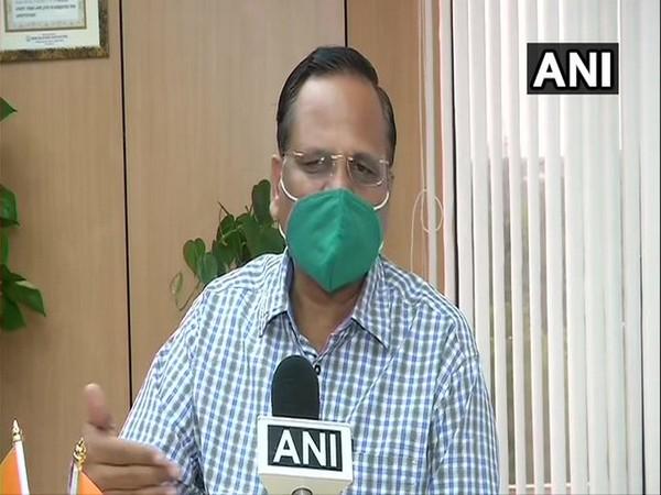 Delhi Health Minister Satyendar Jain speaking to ANI on Thursday. Photo/ANI