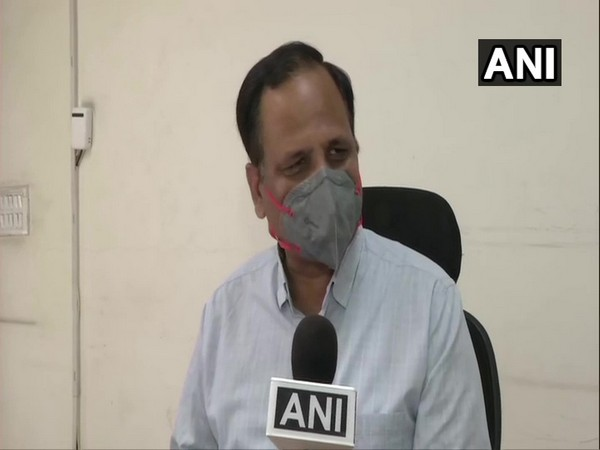 Delhi Health Minister Satyendra Jain speaking to ANI on Thursday.