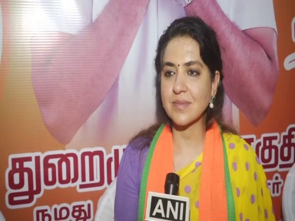 BJP national spokesperson Saina NC speaking to  ANI in Chennai on Monday