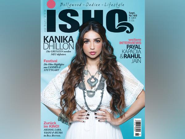 Kanika Dhillon on international Bollywood magazine 'Ishq' cover