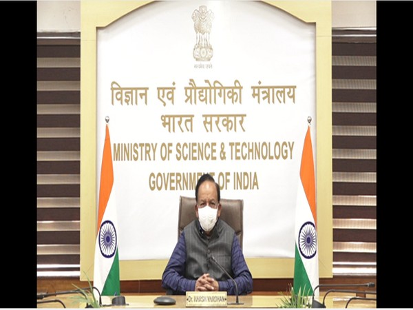 Dr Harsh Vardhan, Union Minister of Science and Technology, Earth Sciences addressing IISF-2020 virtually on Tuesday. (Photo/ANI)